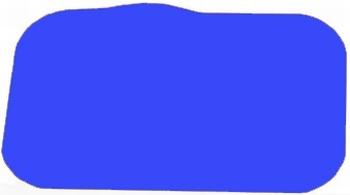 Antislip placemat, kleur blauw