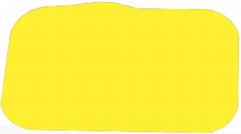 Antslip placemat, kleur geel