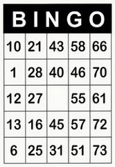 A4 Bingokaarten met grote opdruk