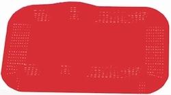 Antislip placemat, kleur rood